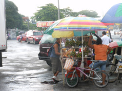 Food Vendor at Paso Canoas