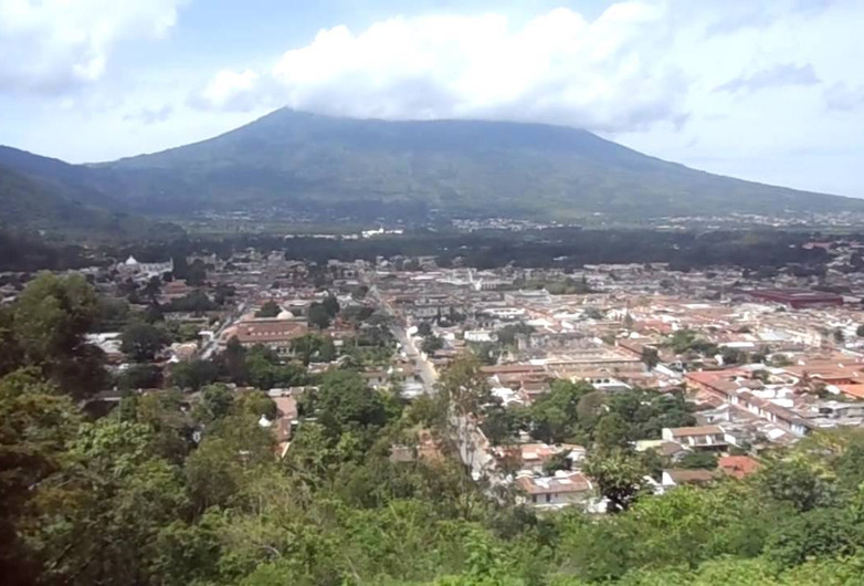 Panorama of Cerro de la Cruz in Antigua, Guatemala