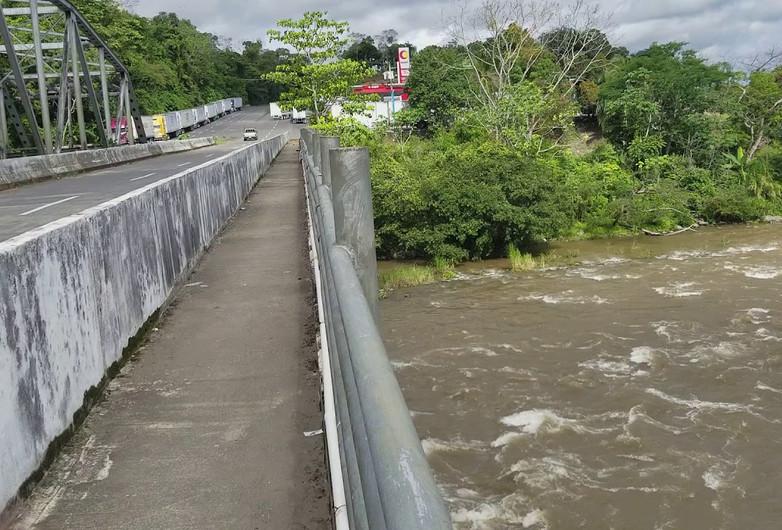 Layers of Infrastructure: Inter-Americana at Puente Rio Chiriqui Viejo; Paso Canoas, Panama