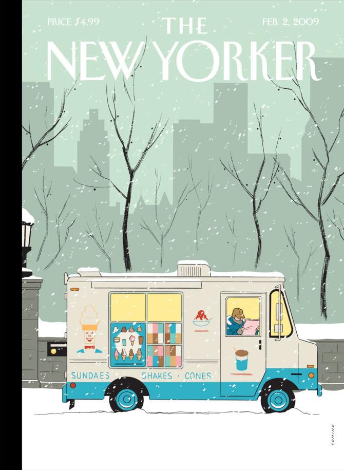 """""""Winter Break,"""" by Adrian Tomine, February 2, 2009"""