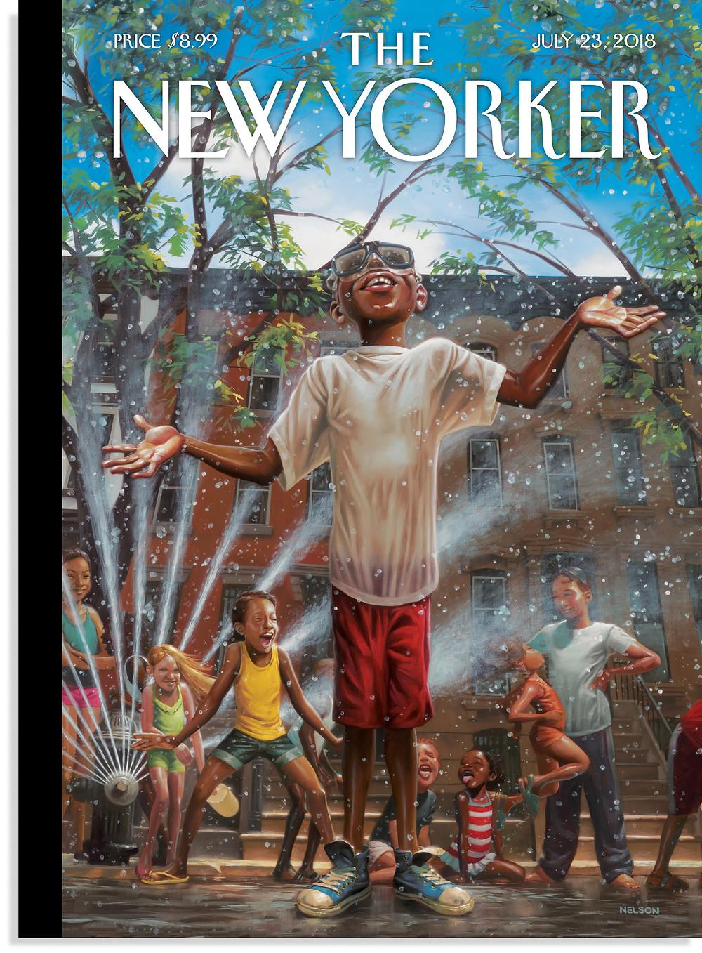 """Summertime City,"" Kadir Nelson, July 23, 2018"
