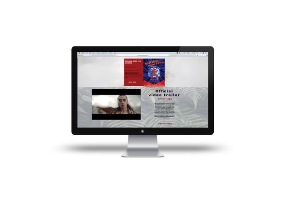 Aronui Arts Festival Website Design