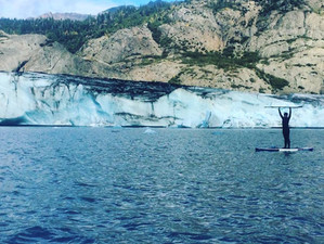 Paddling Grewingk Glacier Lake
