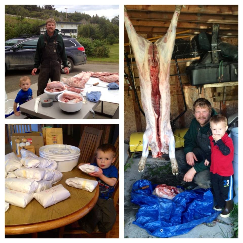 Meat processing is a family affair.
