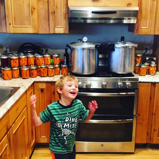 Fall Canning with Kindergartners: Pickled Carrots, Salsa, Rosehip Applesauce