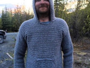 Crocheting a Hoodie (+ Cordova Gansey Project)