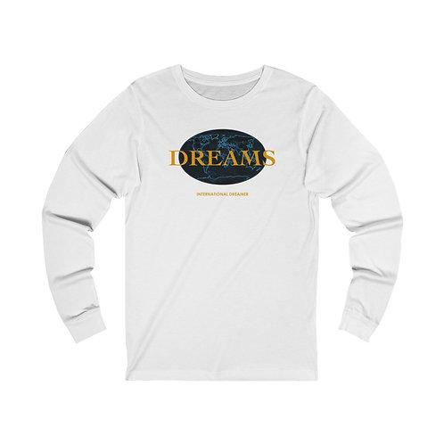 INTERNATIONAL DREAMER GRAPHIC LONG SLEEVE T-SHIRT DESIGN ( B&O)