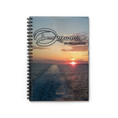 DREAMS SUNSET SPIRAL NOTEBOOK - RULED LINE