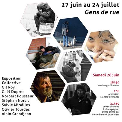 """Exposition """"Gens de Rue"""" pour Solli'Cité"""