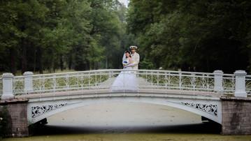 Свадебная фотосессия в Пушкине, фотограф на свадьбу Алексей Лукин в СПб
