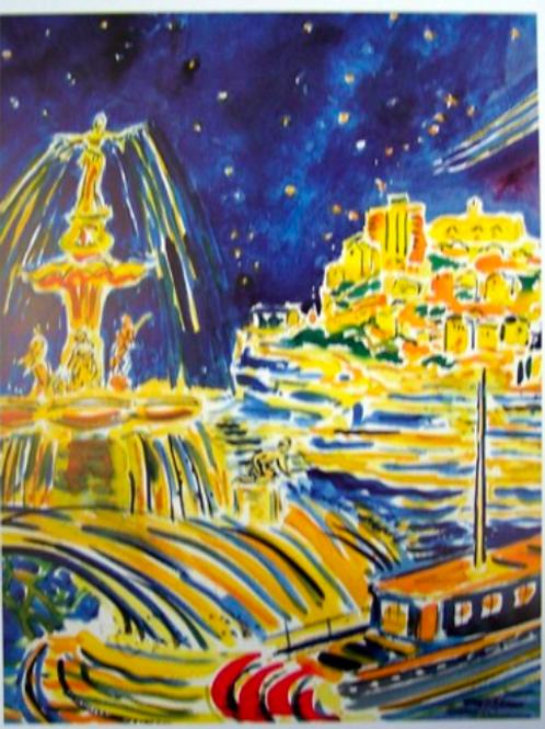 Cincinnati Scene with Fountain
