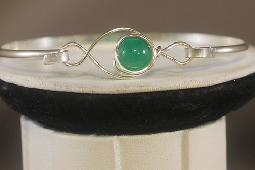 Front View ARGENTIUM SILVER AND JADE BRACELET