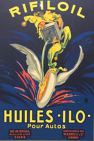 Vintage Poster Rifiloil huiles ilo pour autos