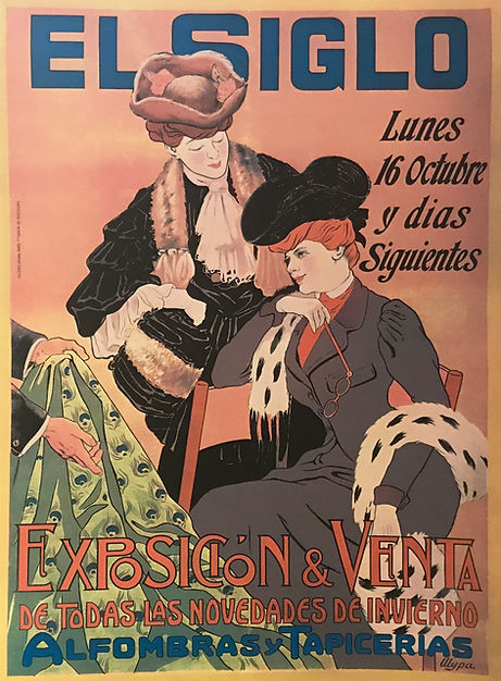 Vintage El Siglo Exposicion & Venta Poster