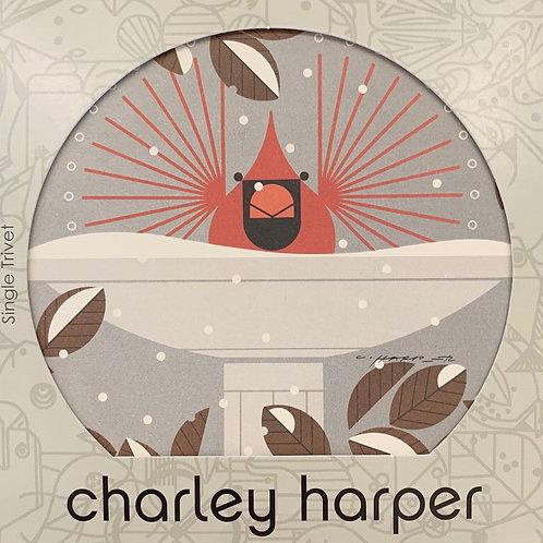 "Charley Harper ""B-r-r-r-dbath"" Trivet"
