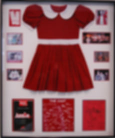 Framed Annie dress and playbill