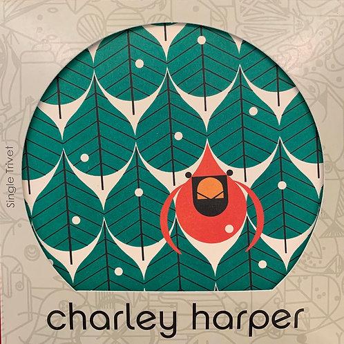 """Coniferous Cardinal"" Charley Harper Coaster Set"