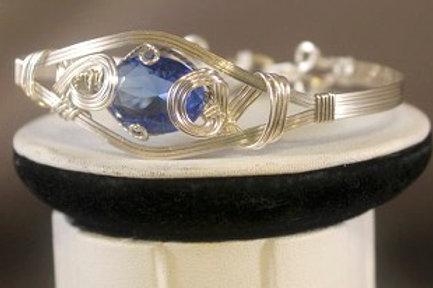 Silver Blue Topaz Bracelet