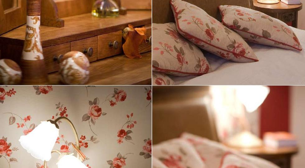 Цветя в основната линия на спалнята