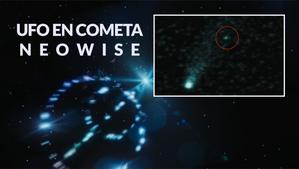 UFO CERCA DEL COMETA NEOWISE VIAJEROS DEL TIEMPO
