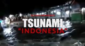 TSUNAMI EN INDONESIA PANICO POR EL VOLCÁN KRAKATOA