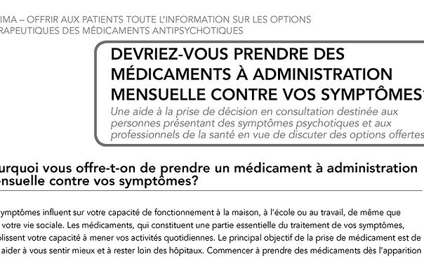 OPTIMA Patient decision aid Brochure_FR_