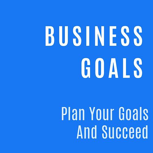 BUSINESS GOALS PLANNER