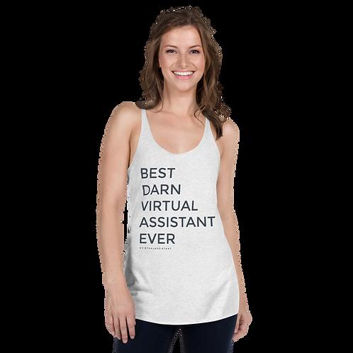 Best Darn Virtual Assistant Women's Racerback Tank- #VirtualAssistant