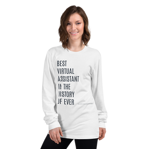 Best Virtual Assistant Long Sleeve Tee- #VirtualAssistant