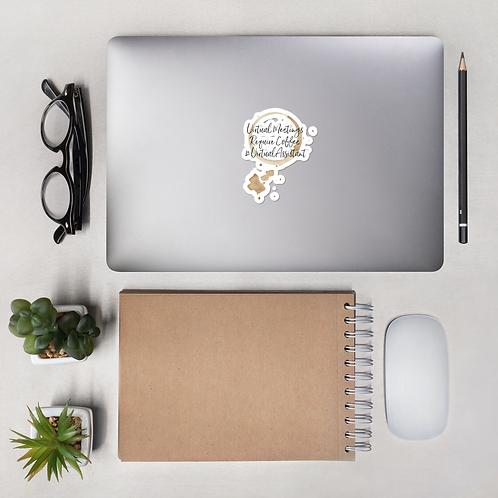 Virtual Meetings Bubble-Free Sticker- #VirtualAssistant