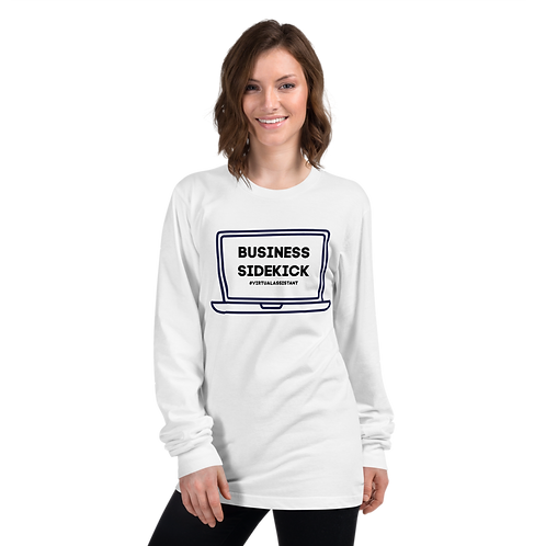 Business Sidekick Long Sleeve Tee- #VirtualAssistant
