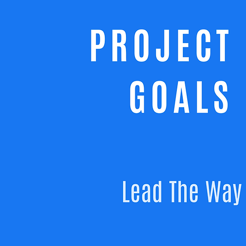 PROJECT GOALS & OBJECTIVES PLANNER
