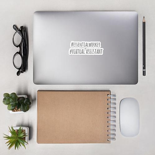Essential Worker Bubble-Free Sticker- #VirtualAssistant