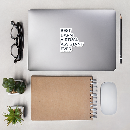 Best Darn Virtual Assistant Bubble-Free Sticker- #VirtualAssistant