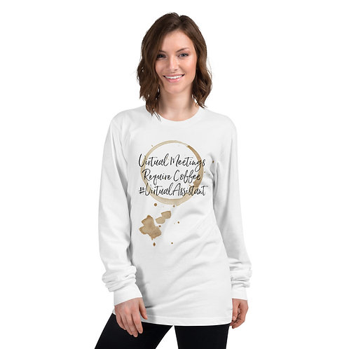 Virtual Meetings Long Sleeve Tee #VirtualAssistant