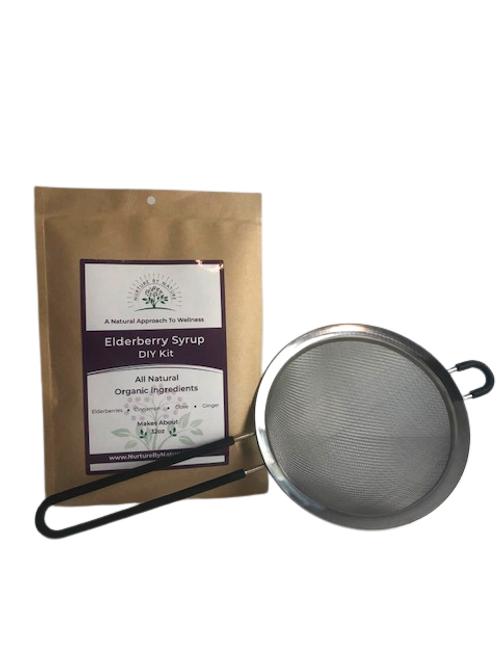 Elderberry Syrup DIY Kit + Strainer