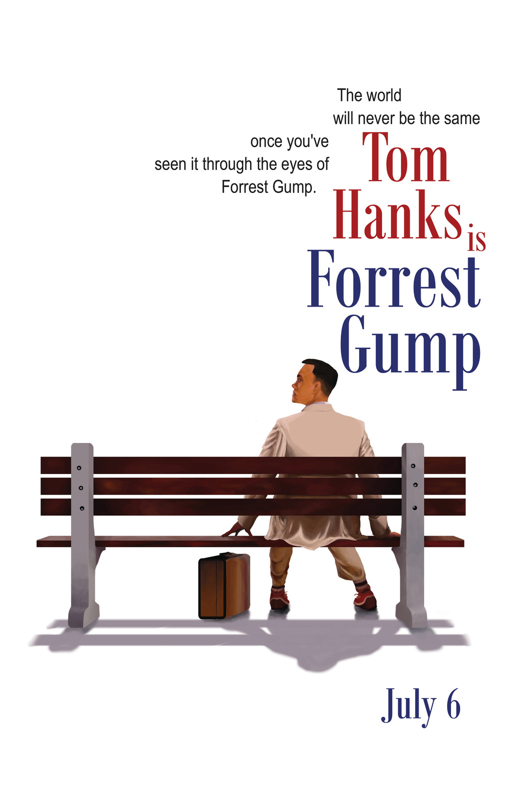 Recreate the Forrest Gump movie poster