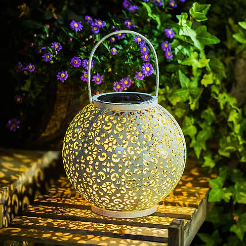 Outdoor Hanging Garden Lantern Metal