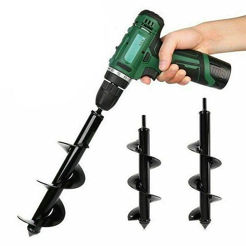 Garden Auger Spiral Drill Bit Tool  Flower Planter Bulb Shaft