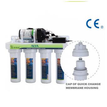 Ósmosis Inversa de 4 etapas/ Purificador de agua RO con bomba