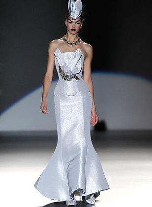 Maya Hansen Silver Corset Dress