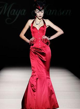 Maya Hansen Red Corset Dress