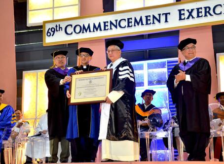 Archbishop Tria Tirona conferred Doctor of Humanities, Honoris Causa