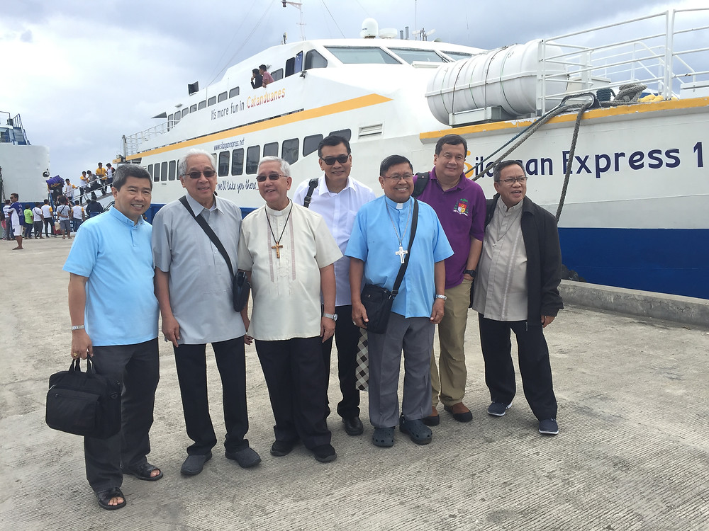 Bicol Bishops welcomed by Bishop de los Santos  in Virac