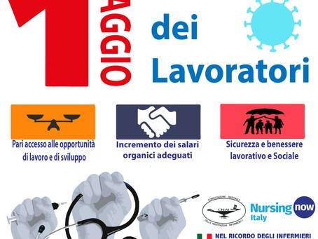 1 MAGGIO 2021: In difesa del Lavoro e dei Diritti di Infermiere/i.