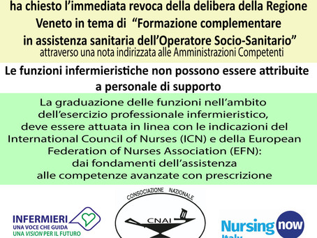 Chiesta la revoca della delibera Regione Veneto sulla formazione degli OSS -formazione complementare