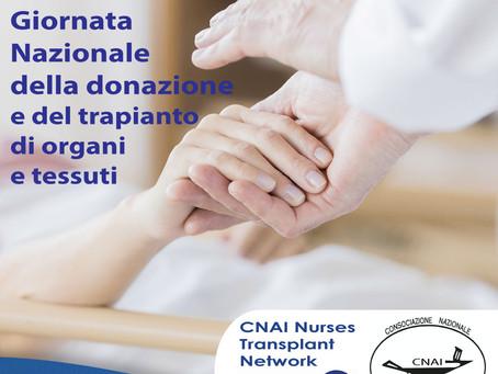 11.04.21 Giornata nazionale per la donazione di organi e tessuti -Nurses Transplant Network di CNAI