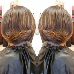 Cut and color! Healthy hair! #hairbyshak