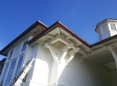 Classy Half Round Copper and Coated Aluminum gutters