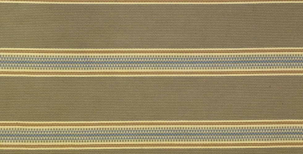 Blue - Khaki Stripe Fabric